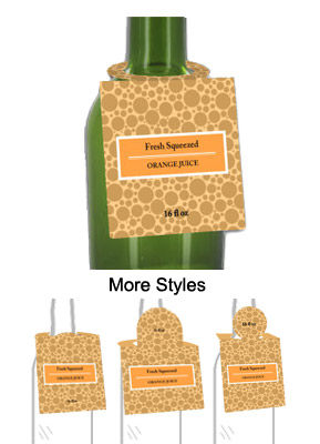Orange Juice Bottle Tags