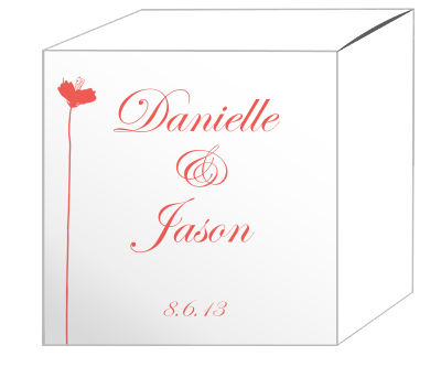 Orchid Favor Boxes
