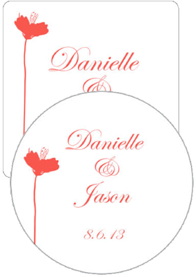 Orchid Wedding Coasters
