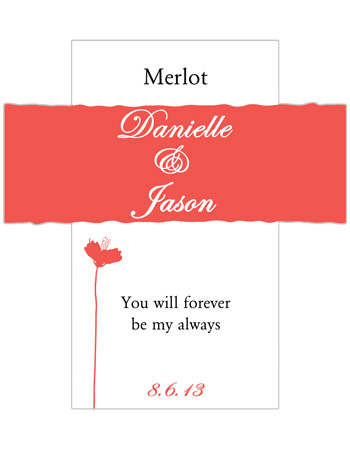 Orchid Wine Wedding Labels
