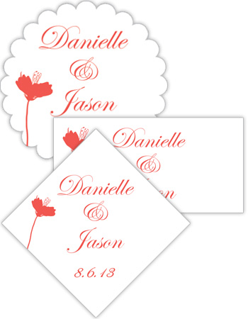 Orchid Wedding Labels