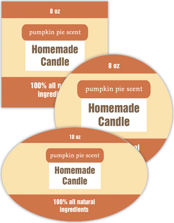 Original Country Candle Labels