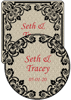 Ornament Wedding Coasters