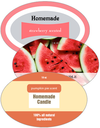 Oval Candle Labels