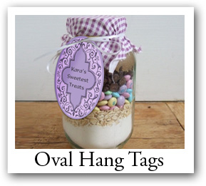 oval favor tags, oval hang tags