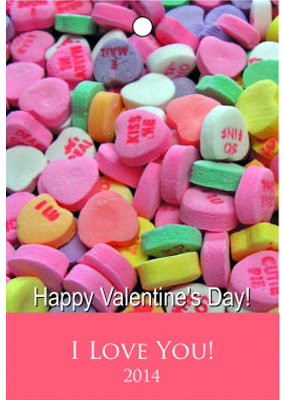 Photo Valentine Hang Tag with Text