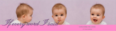 Water Photo Baby Labels With Text