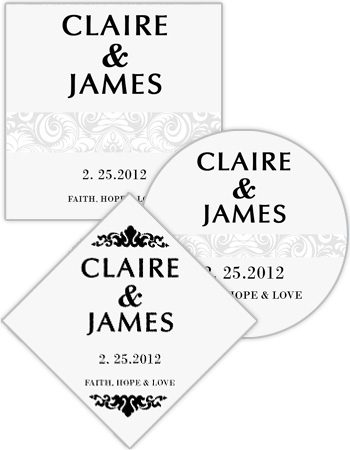 Paisley Wedding Labels