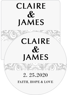 Paisley Wedding Coasters