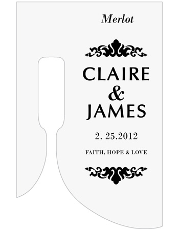 Paisley Wine Wedding Labels