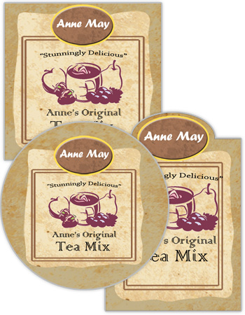 Paper Tea Bag Food and Craft Label