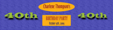 Water Party Time Birthday Labels