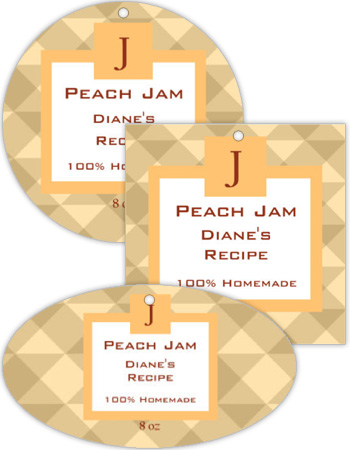 Peach Canning Favor Tag