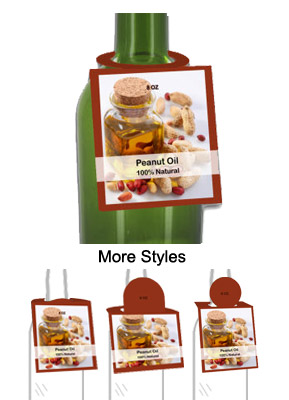 Peanut Oil Bottle Tags