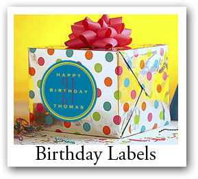 Personalized Custom Designed Birthday Labels