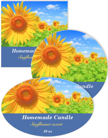 Photo Candle Labels with text