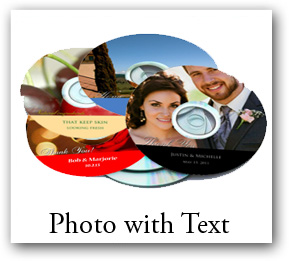 Photo With Text CD DVD Labels