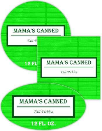 Pickles Canning Labels