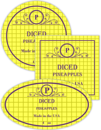 Pineapple Canning Labels