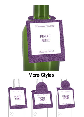 Pinot Noir Wine Bottle Tags