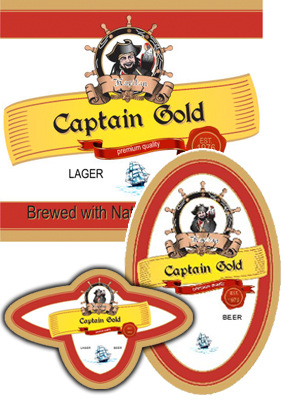 Pirate Beer Labels
