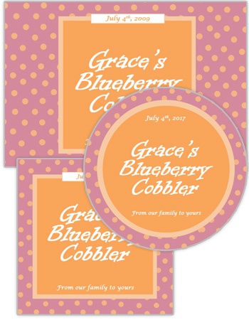 Polka Dot Food and Craft Label