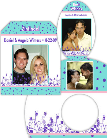 Polka Floral Wedding Labels
