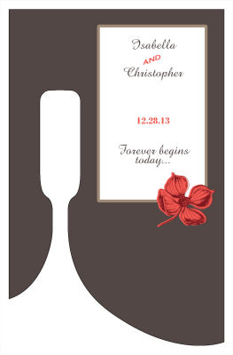 Polka Wine Wedding Labels