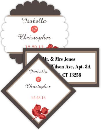 Polka Wedding Labels
