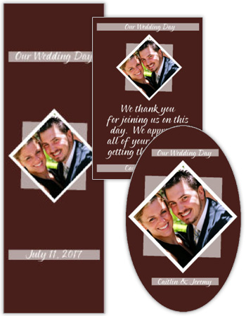 Portrait Wedding Labels