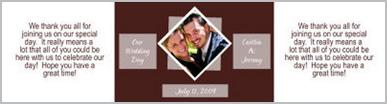Portrait Water Wedding Labels