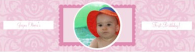 Water Powder Pink Baby Labels 7x1.875