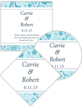 Provencale Wedding Labels