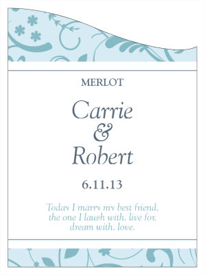 Provencale Wine Wedding Labels