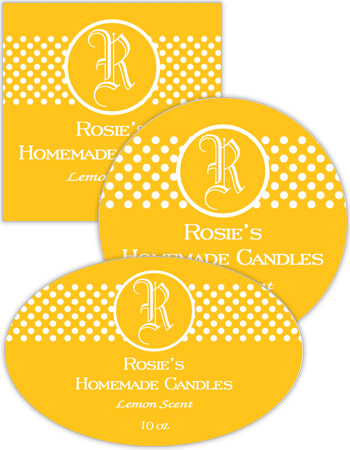 Regal Candle Labels