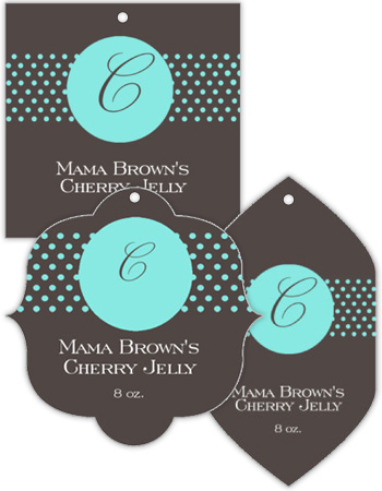 Regal Canning Favor Tags