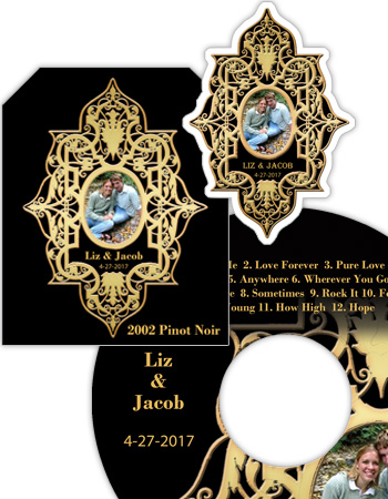 Renaissance Wedding Labels