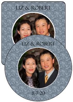 Romanesque Wedding Coasters
