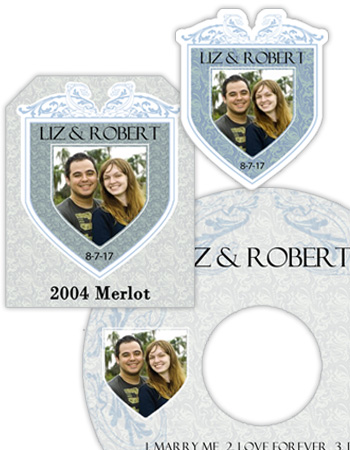 Romanesque Wedding Labels