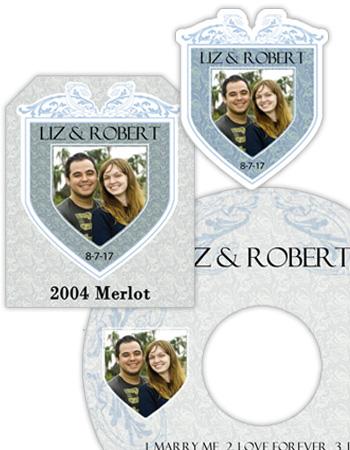 Romanesque Wedding Labels
