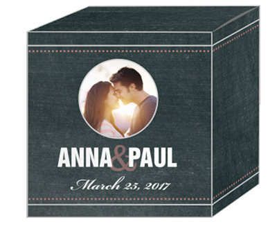 Romantic Photo Chalkboard Favor Boxes
