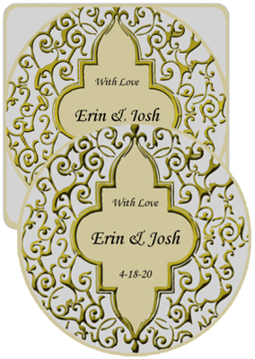 Romanticism Wedding Coasters