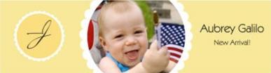 Water Ruffles Baby Labels 7x1.875
