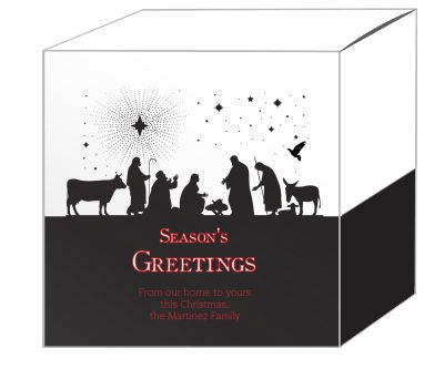 Scene Nativity Christmas Gift Boxes