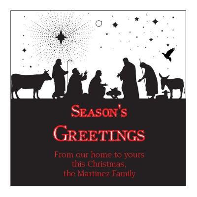 Scene Nativity Christmas Hang Tags