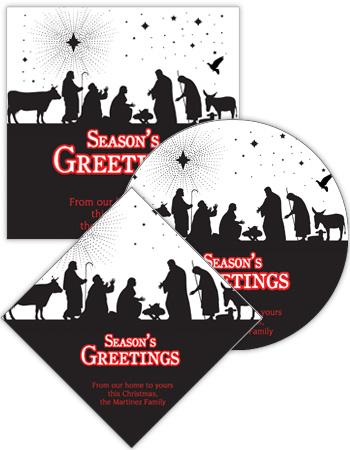 Scene Nativity Christmas Labels