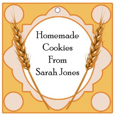 Wheat Food and Craft Hang Tags