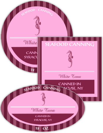 Seafood Canning Labels