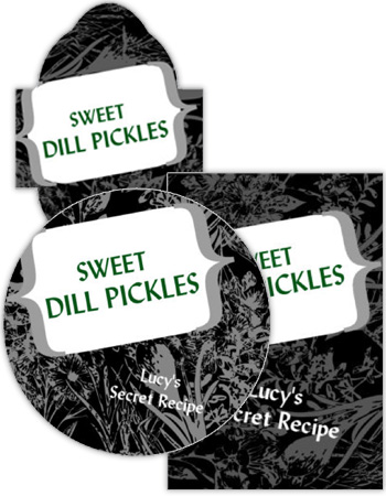 Secret Oasis Canning Label