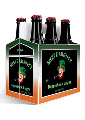 Sheve Aughty Bock St. Patriks Day Six Pack Carriers